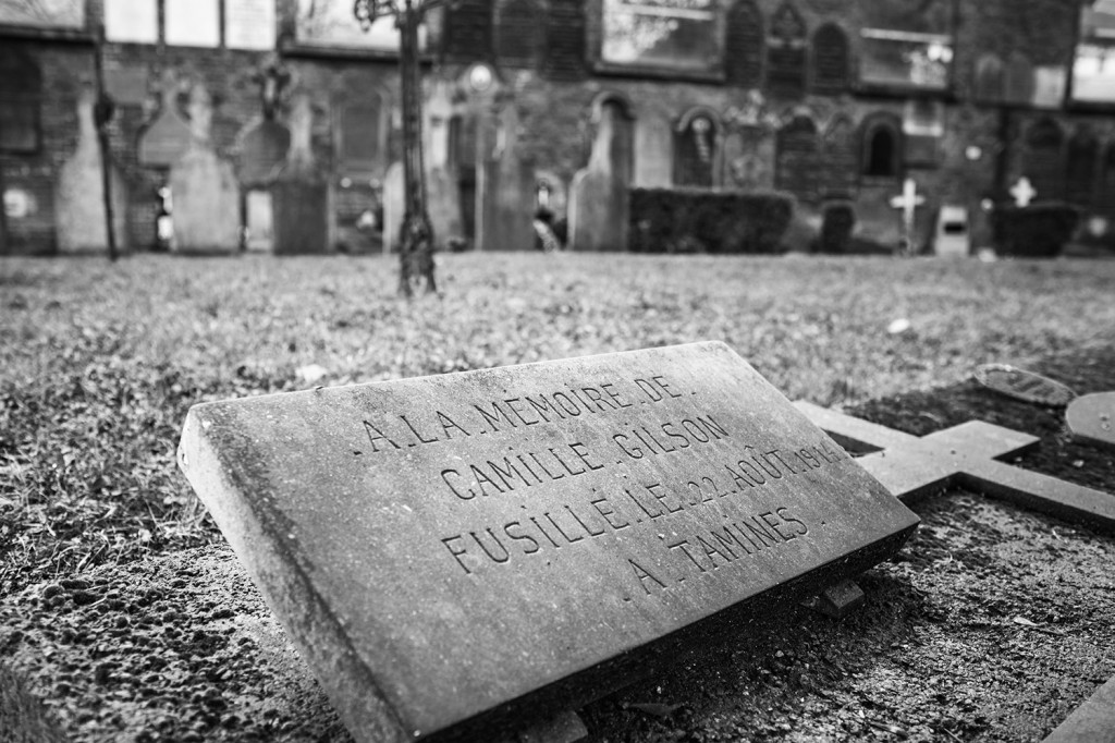 een van de 384 slachtoffers in Tamines, het op een na grootste bloedbad onder burgers tijdens de Duitse opmars