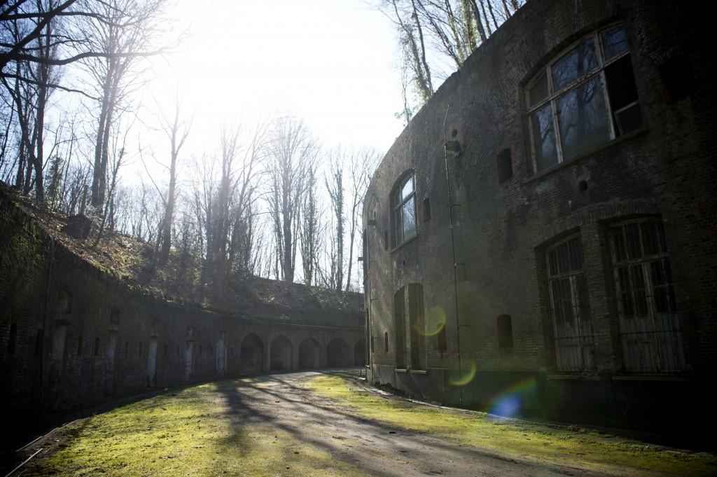 binnenzicht fort van Walem (alle foto's: Lies Willaert)