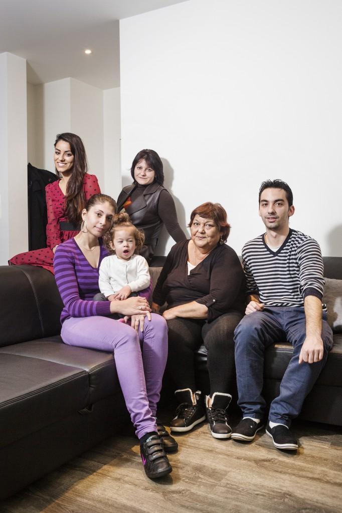 trotse Roma: de familie Rusenko. (foto Frederik Buyckx)