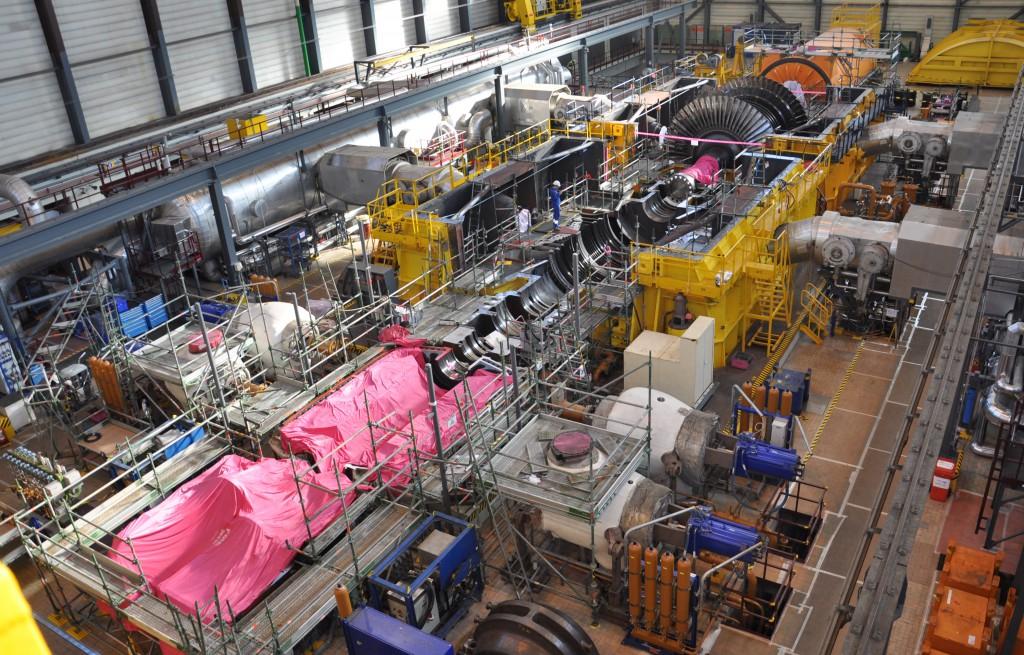 herstelling stoomturbine kostte 30 miljoen euro (foto Electrabel)