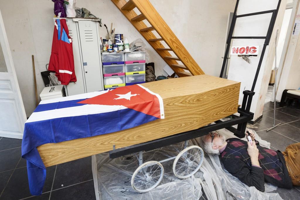 driemansgroep NOIG: lachen met Fidel (foto: Frederik Buyckx)
