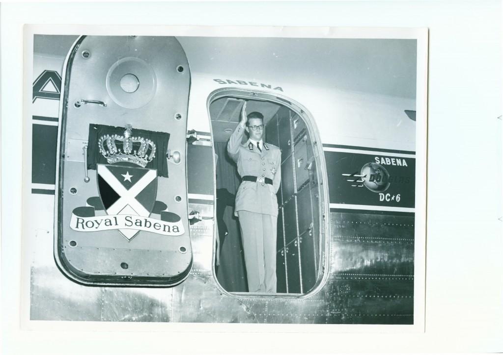 Koning Boudewijn in Belgisch Congo (1955)