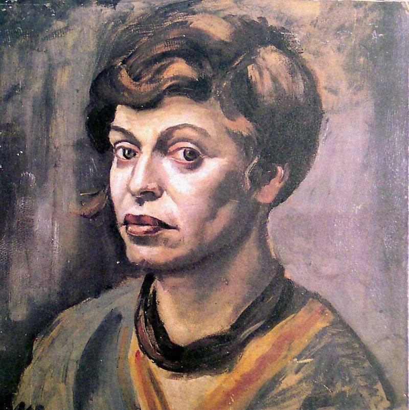 zelfportret Elfriede Lohse-Wächtler, een van de T4-slachtoffers