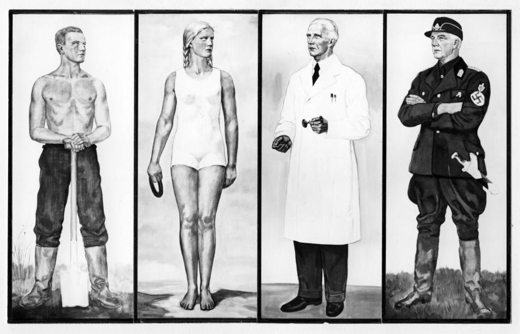 Ideale mensen volgens Nazi's, paneel tentoontselling Wunder des Lebens