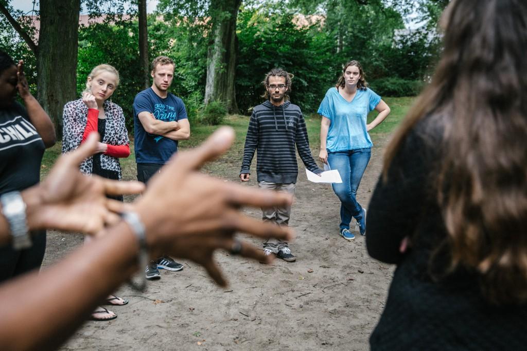 Jongeren voor de Samenleving op stage in Lokeren (foto: Wouter Van Vooren)