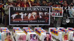 protest tegen Chinese bezetting