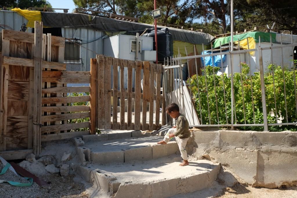 bedoeïenenkamp Westbank. Opkrassen voor uitbreiding Jeruzalem (eigen foto)