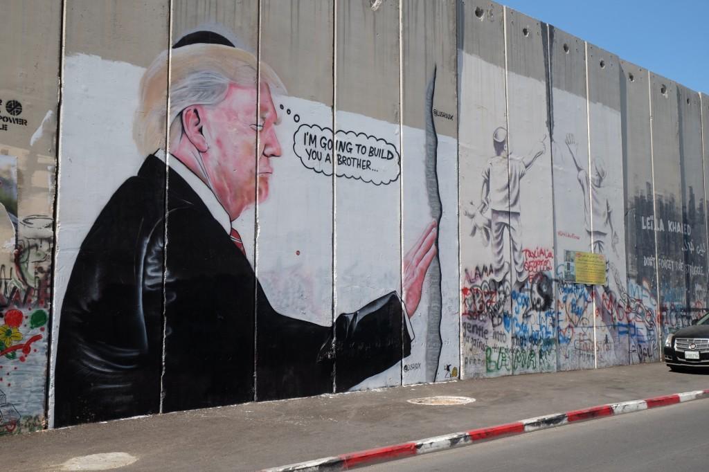 Scheidingsmuur in Bethlehem (eigen foto)
